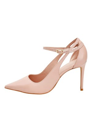 SIGNATURE CUT-OUT COURT SHOES - High heels - beige