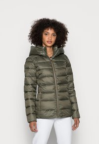 Esprit - PER LL F THINSU - Down jacket - dark khaki - 0