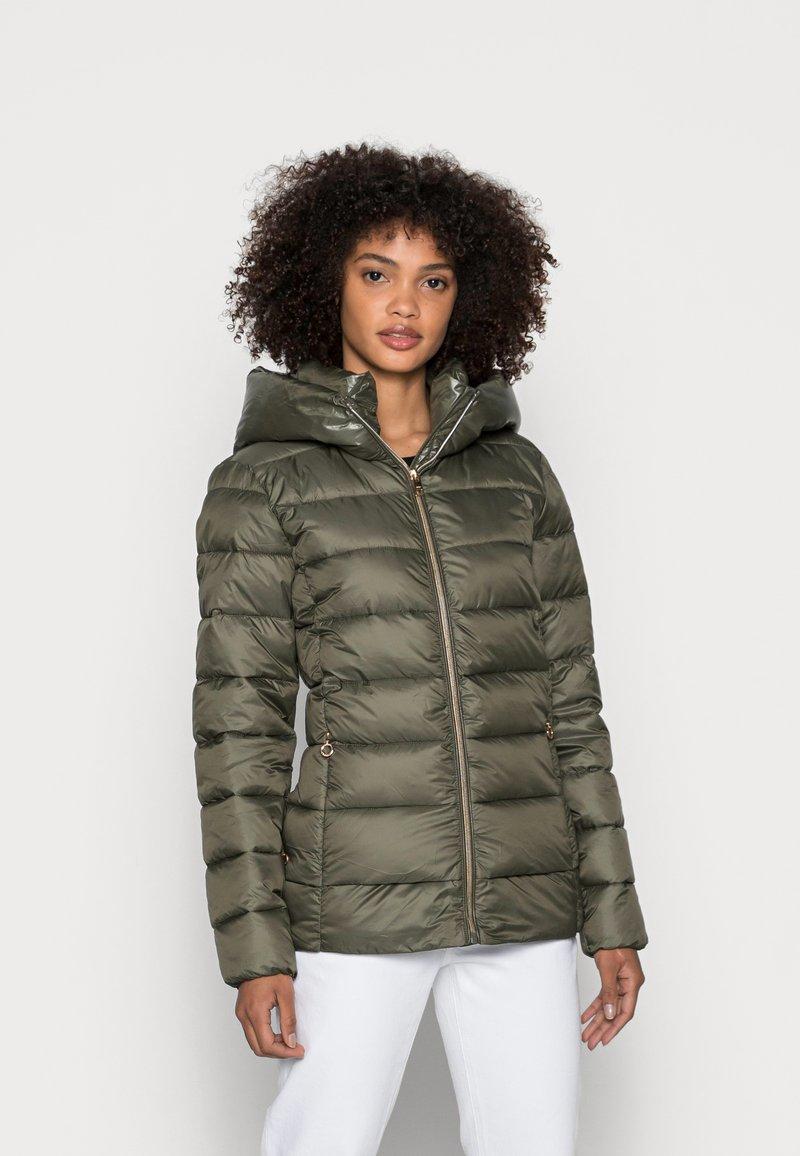 Esprit - PER LL F THINSU - Down jacket - dark khaki
