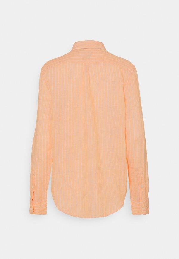 Polo Ralph Lauren STRIPE LONG SLEEVE - Koszula - peach/white/pomarańczowy YGJW