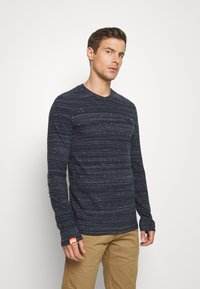 Superdry - Long sleeved top - midnight navy space dye - 0