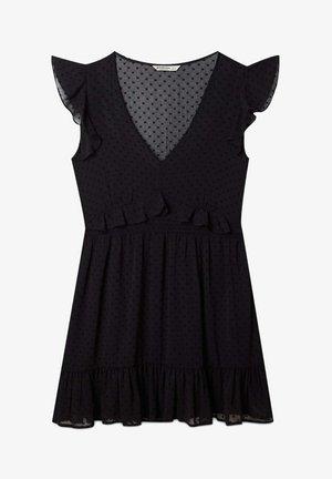 VOLANTS - Denní šaty - black