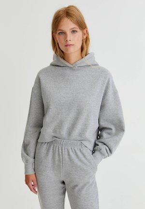 Kapuzenpullover - mottled grey
