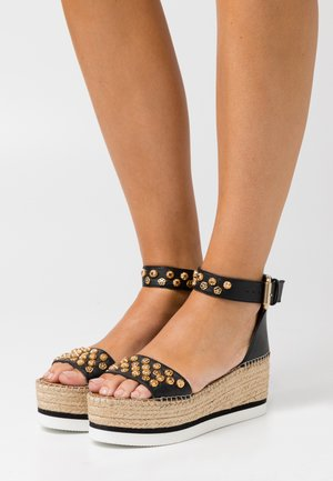 Sandales à plateforme - nero