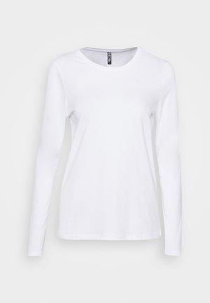 PCRIA NEW  - Bluzka z długim rękawem - bright white