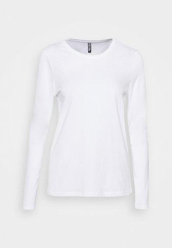 PCRIA NEW  - Maglietta a manica lunga - bright white