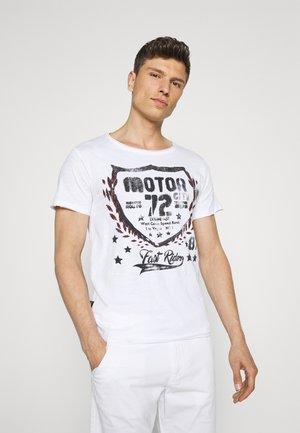 MOTOR CITY ROUND - T-shirt med print - white