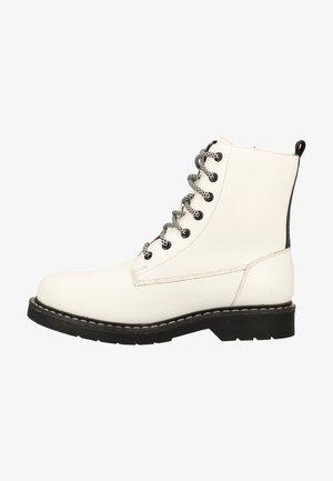 Platform ankle boots - weiss / kombiniert