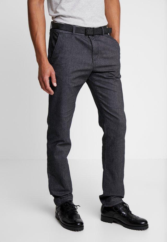 STRAIGHT WINTER YARN DYE - Kalhoty - grey