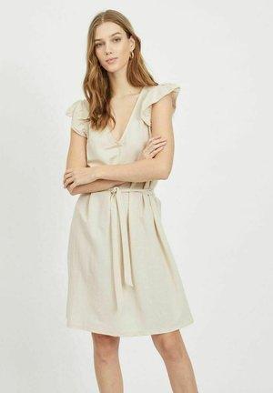 VIWANDERA  V NECK SHORT DRESS - Day dress - birch