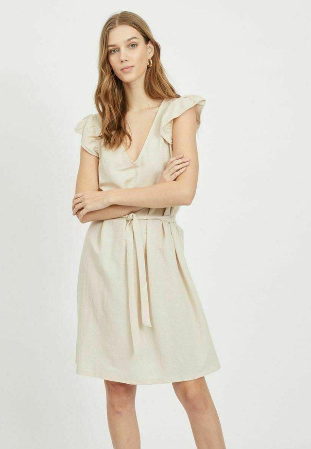 VIWANDERA  V NECK SHORT DRESS - Sukienka letnia - birch