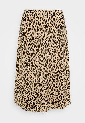 VILITIN BUTTON SKIRT - A-line skirt - ginger root