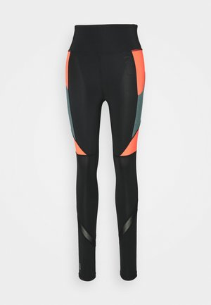 ONPALANI TRAINING - Leggings - black/goblin blue/fiery coral