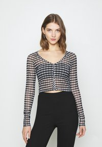 Weekday - NICOLE - Long sleeved top - blac/grey check - 0