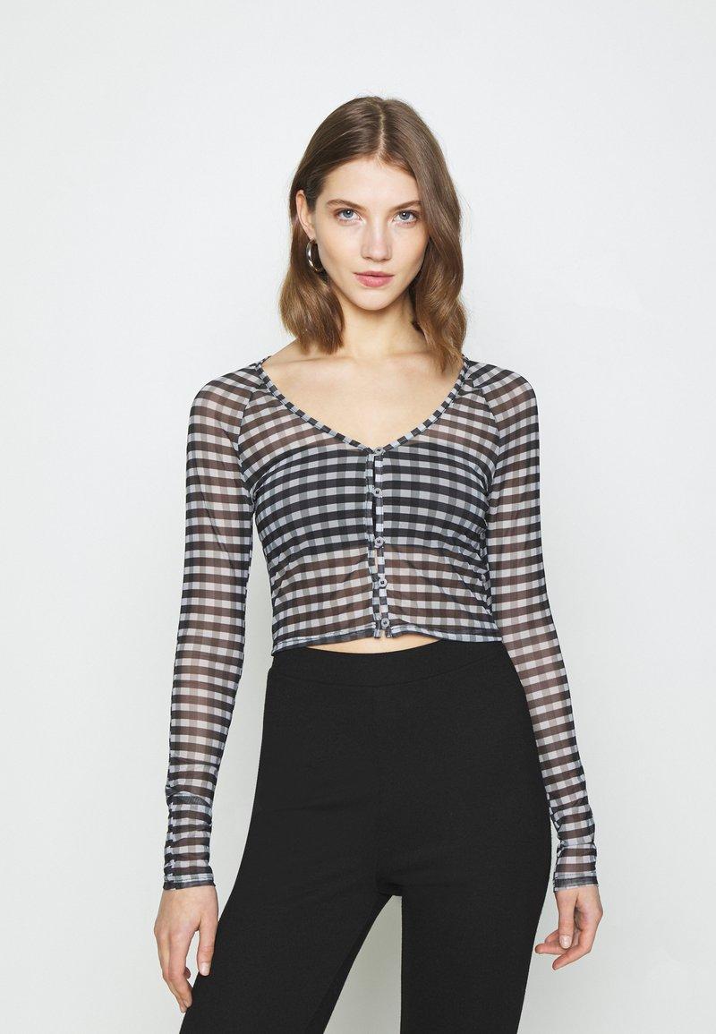 Weekday - NICOLE - Long sleeved top - blac/grey check