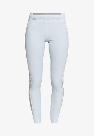 Leggings - blue/white