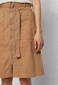 BOSS - A-line skirt - beige - 3