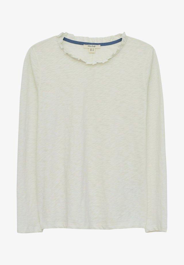 T-shirt à manches longues - natur weiß