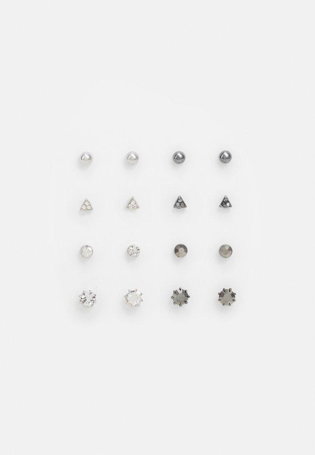MEGA STUD 8 PACK - Boucles d'oreilles - silver-coloured