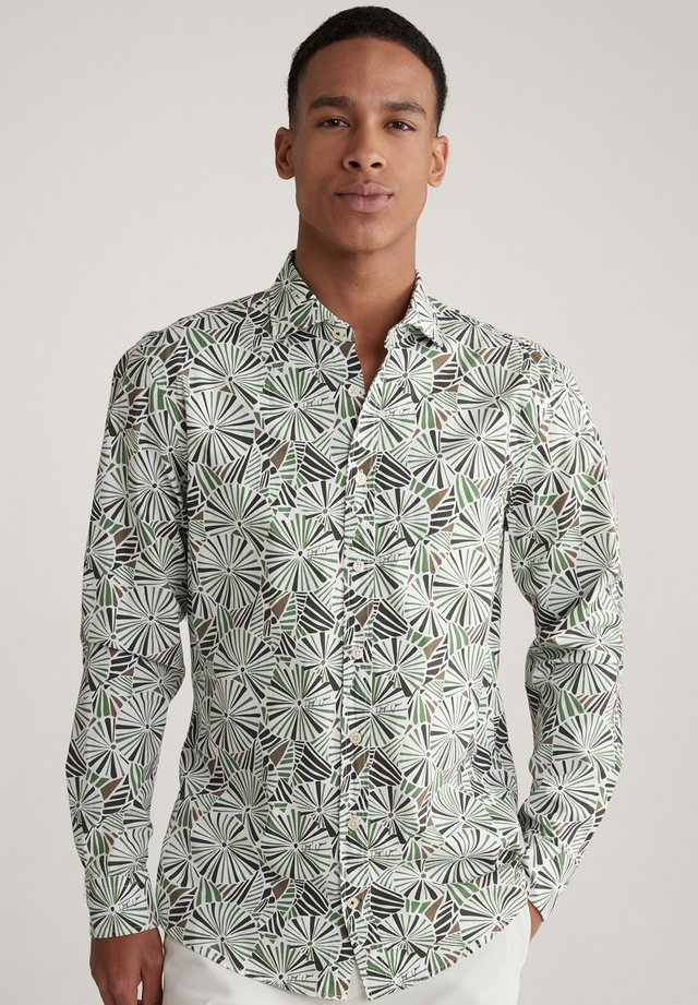 Shirt - grün/weiß/schwarz