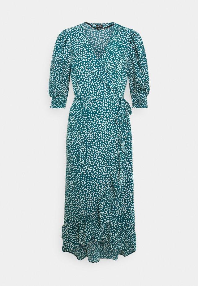 VMLISSY FRILL WRAP MIDI DRESS  - Day dress - deep lagoon/snow white