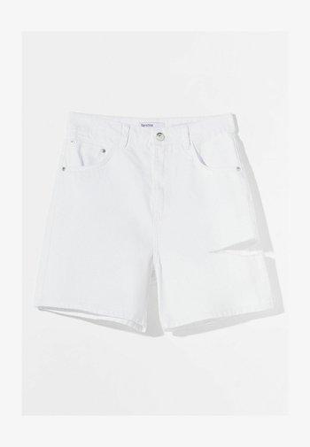 Denim shorts - nude