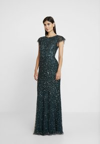 Maya Deluxe - ALL OVER EMBELLISHED DRESS - Occasion wear - emerald - 2