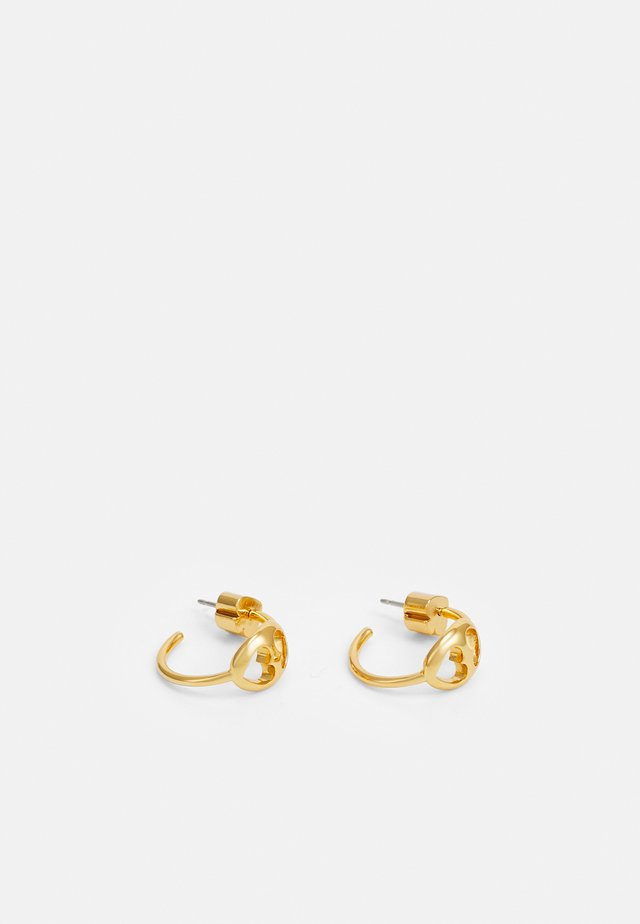 DUO LINK SMALL HOOPS - Øreringe - gold-coloured