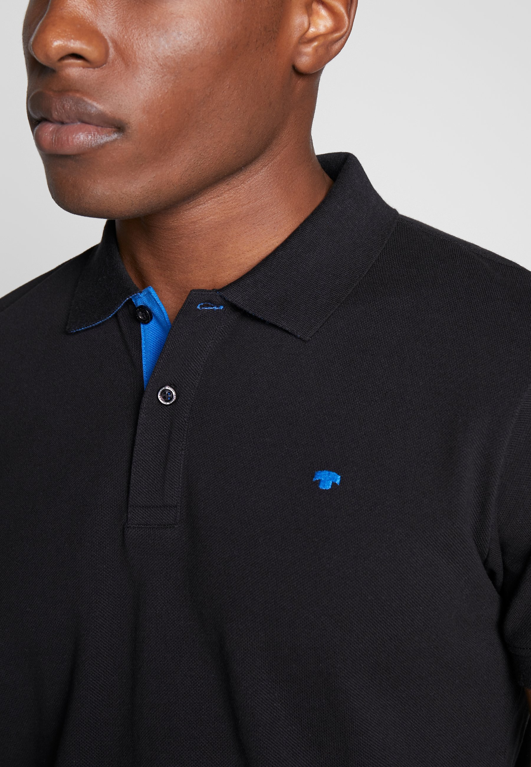TOM TAILOR BASIC WITH CONTRAST - Polo shirt - black 5in6R