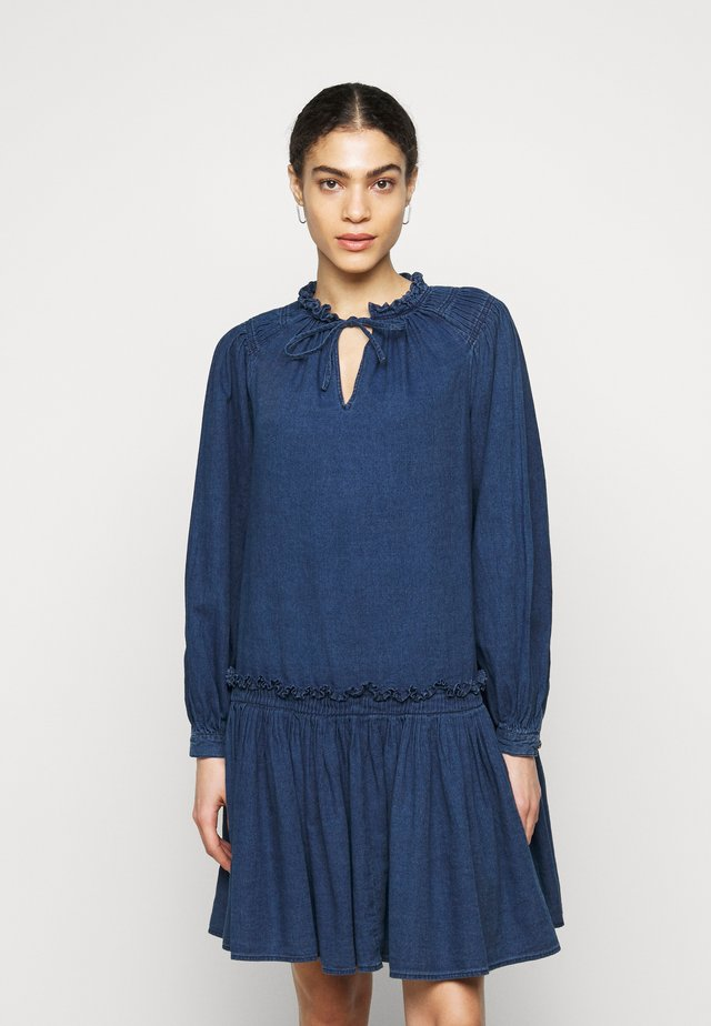 KARI - Sukienka jeansowa - dark-blue denim