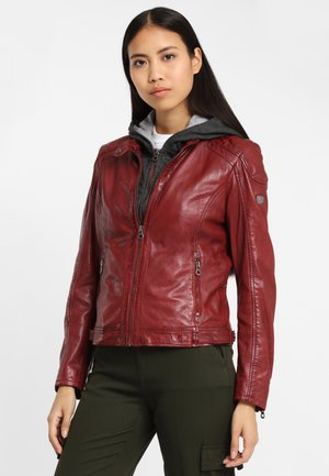 GABBY LAMAS - Leather jacket - ox red