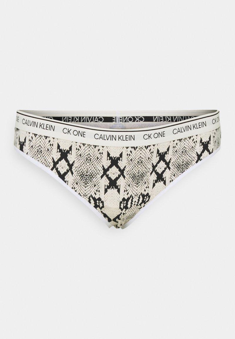Calvin Klein Underwear - ONE PLUS THONG - Thong - oatmeal heather