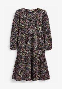 Next - PRINTED - Robe d'été - mottled black - 0