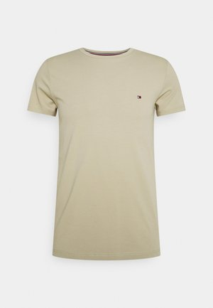 STRETCH SLIM FIT TEE - Basic T-shirt - desert tan