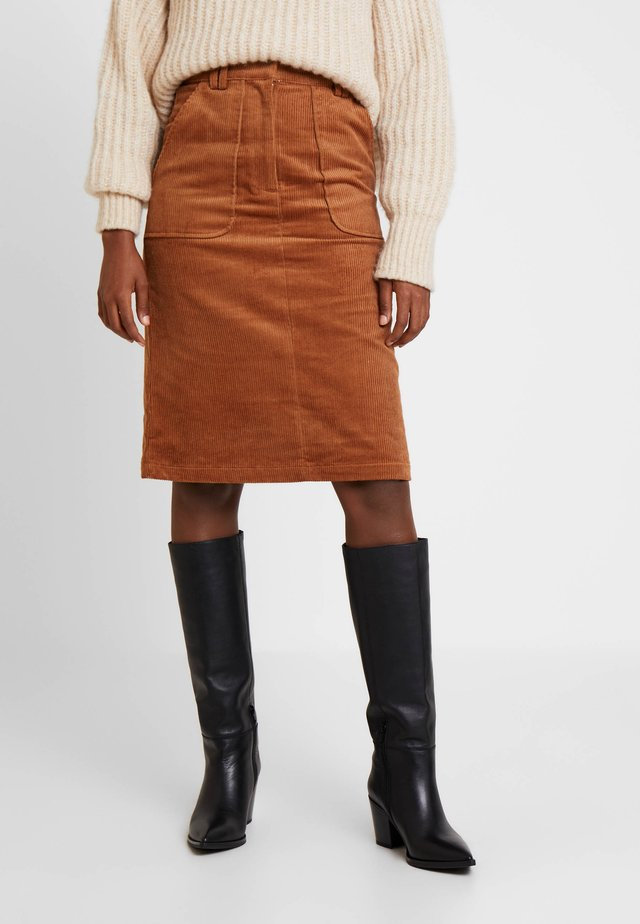 VARDA - A-line skirt - henna