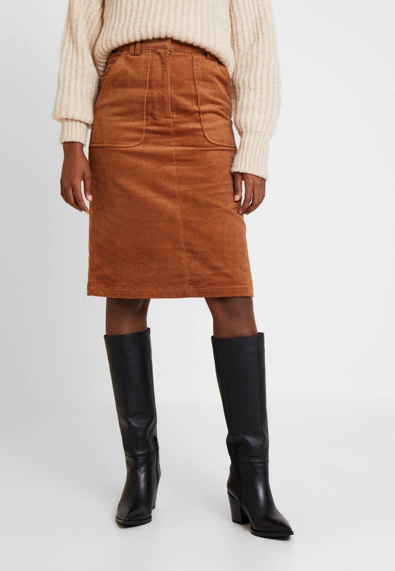 Great Plains London - VARDA - A-line skirt - henna