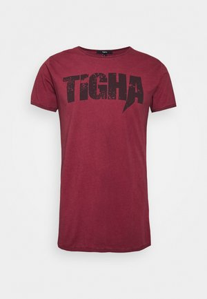 TIGHA LOGO SPLASHES - T-shirt imprimé - vintage bordeaux