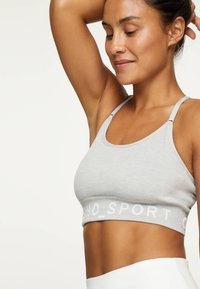OYSHO - Medium support sports bra - grey - 0
