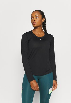 ONE - Long sleeved top - black/white