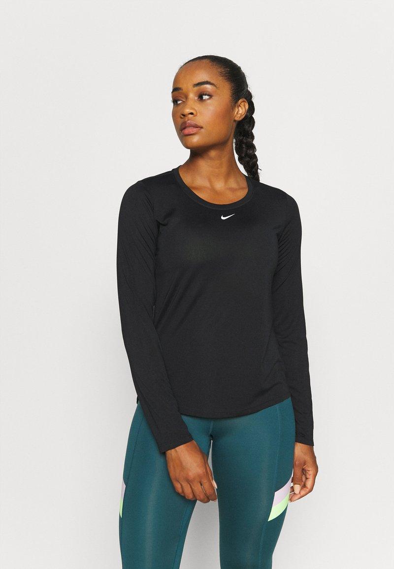 Nike Performance - ONE - Maglietta a manica lunga - black/white