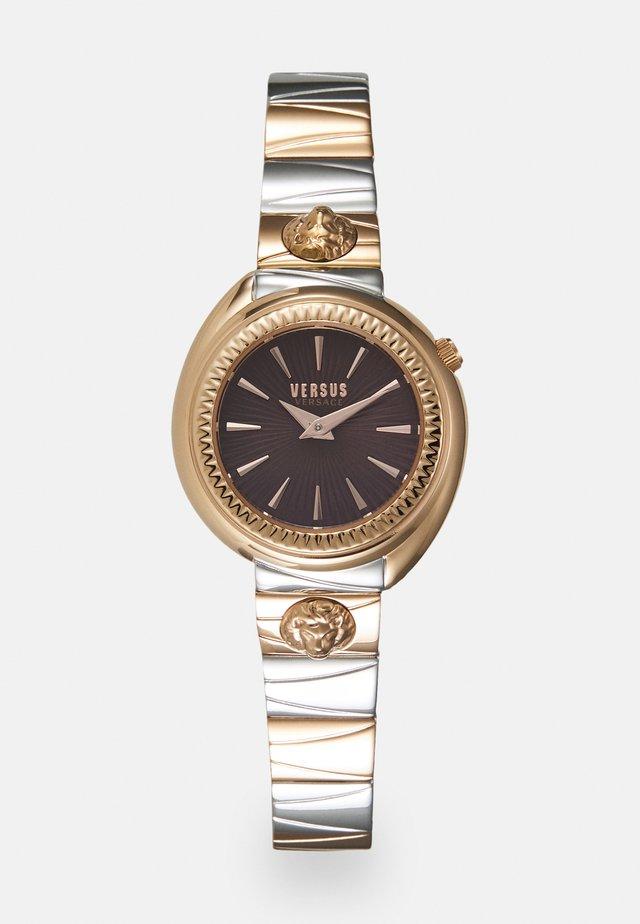 TORTONA - Horloge - rosegold-coloured/burgundy