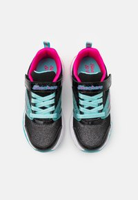 Skechers - FUSION FLASH - Trainers - black/turquoise/neon pink - 3