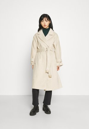 HARPER DROP SHOULDER BELTED COAT WITH CUFF TABS - Classic coat - taupe
