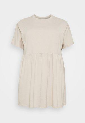 NMKERRY SHORT DRESS - Žerzejové šaty - chateau gray
