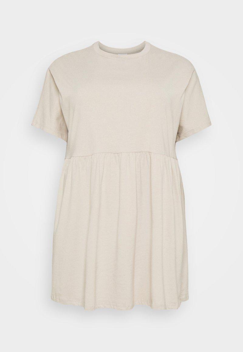Noisy May Curve - NMKERRY SHORT DRESS - Jersey dress - chateau gray