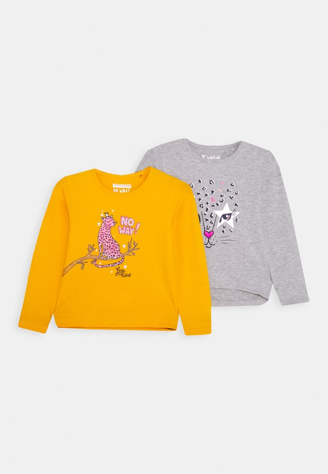 GIRLS LONGSLEEVE 2 PACK - Maglietta a manica lunga - mustard yellow/grey
