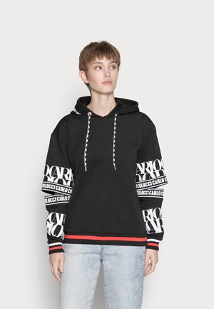 HOODIE WITH CUT OUT - Mikina - black