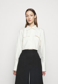 Victoria Beckham - FUNNEL NECK  - Button-down blouse - off white - 0