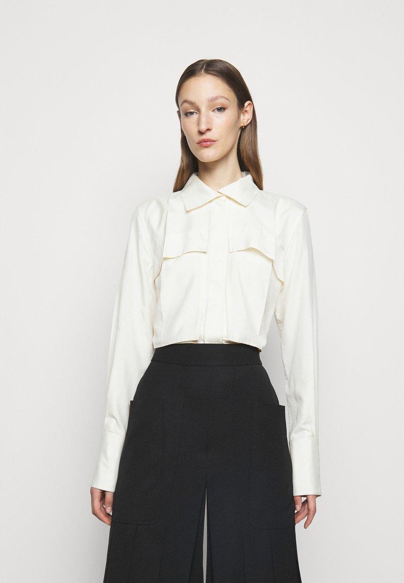 Victoria Beckham - FUNNEL NECK  - Button-down blouse - off white