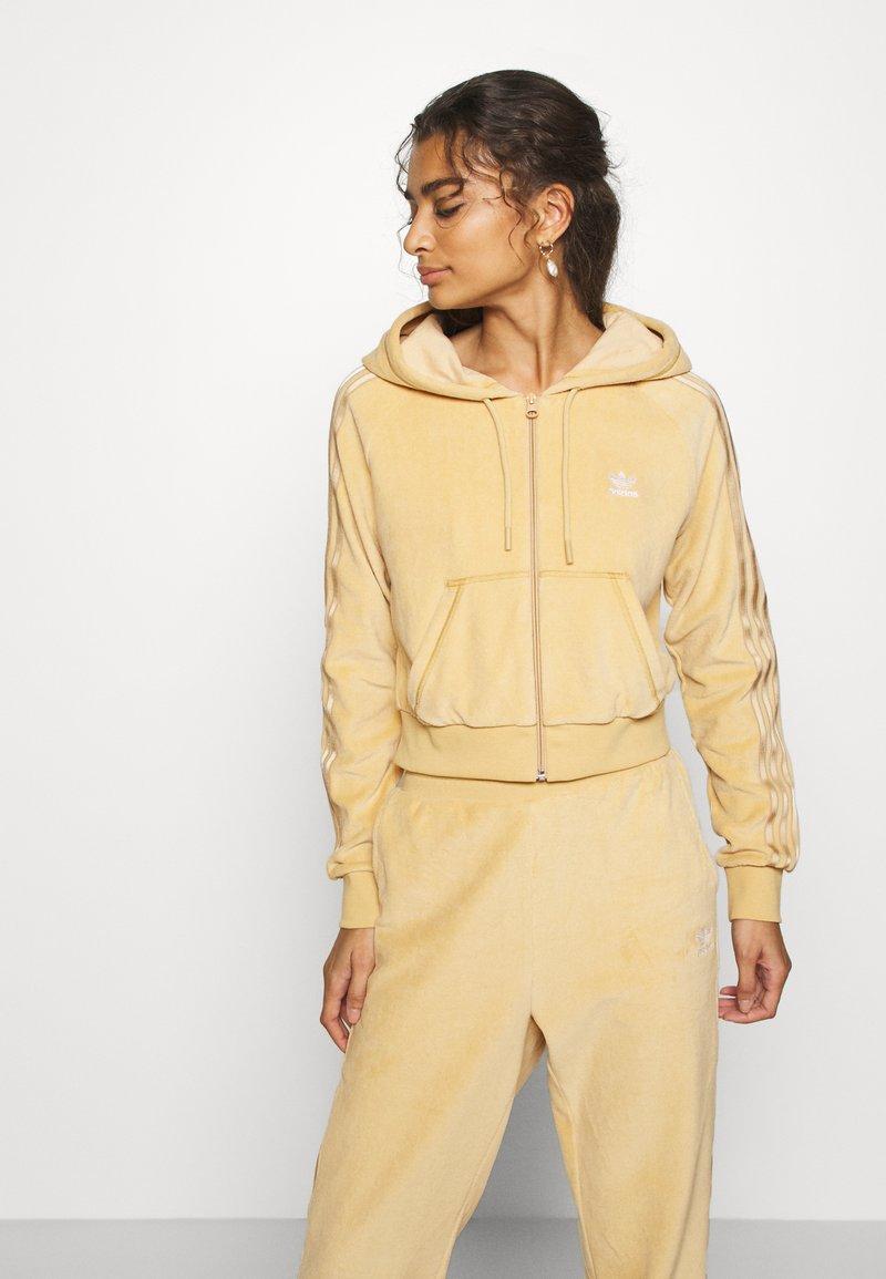 adidas Originals - CROP HOOD - Zip-up hoodie - hazbei